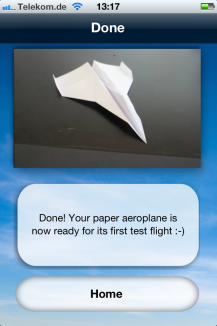Paper aeroplane instructions