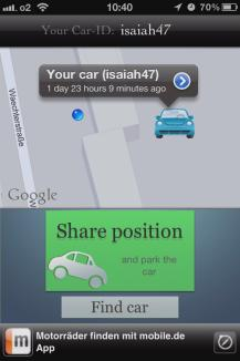 Share Car-Position