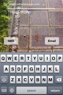 SMS while Walking
